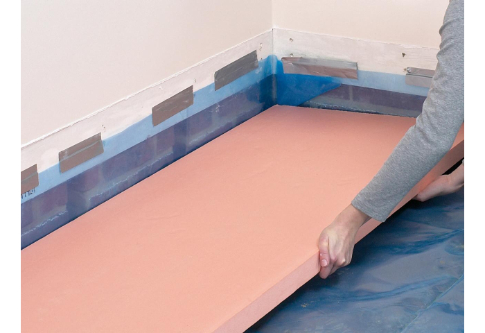 You Can Now Go Ahead And Fit 1 2 Inch Thick Rigid Foam Insulation Between The Sleepers It S Important That Individual Strips Are 12 Inches Wide